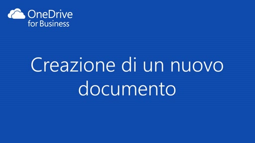 OneDrive for Business || Creazione di un nuovo documento