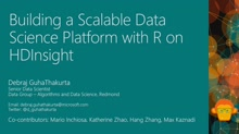 Building a Scalable Data Science Platform with R on HDInsight