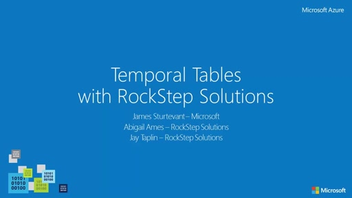 Azure SQL Temporal Tables with RockStep Solutions