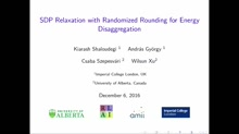 SDP Relaxation with Randomized Rounding for Energy Disaggregation