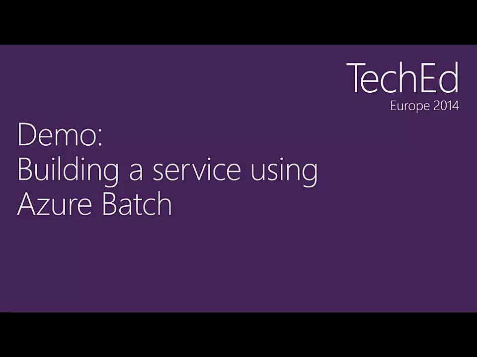 Azure Batch: Build a Batch Service