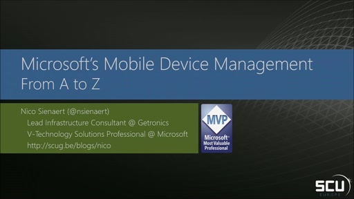Microsoft Mobile Device Management from A to Z