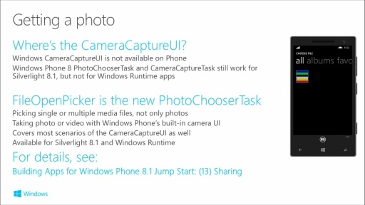 Building Apps for Windows Phone 8.1: (17) Camera, Media, and Audio in Windows Phone 8.1