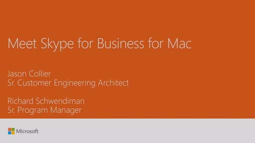 Meet Skype for Business for Mac