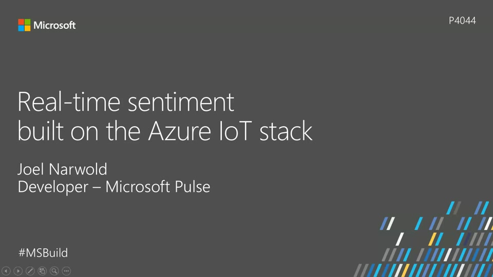 Real-time sentiment built on the Azure IoT Stack