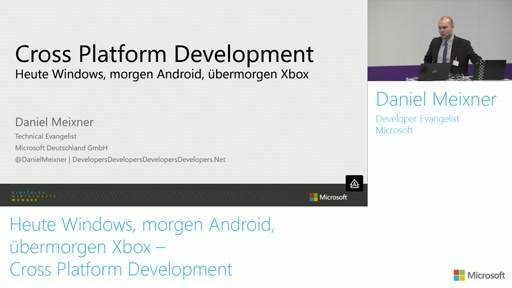 Heute Windows, morgen Android, übermorgen Xbox – Cross Platform Development