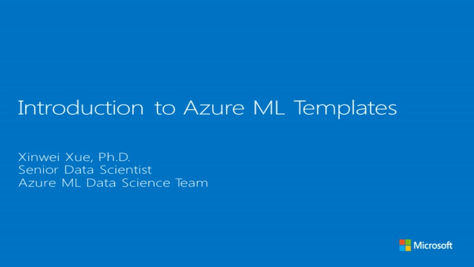 Learn How to Create Text Analytics Solutions with Azure Machine Learning Templates
