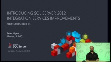 Presentation: Introducing SQL Server 2012 Integration Services Improvements