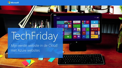 Mijn eerste website in de cloud met Azure Websites – TechFriday, aflevering 4