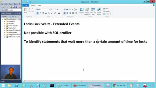 Extended Event Locks Lock Waits in SQL Server