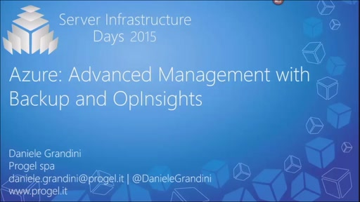 Azure: Advanced Management with Backup and OpsInsights - MA02
