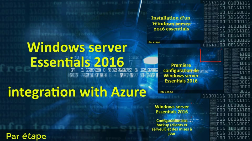Windows server 2016 Essential - Backup with Azure