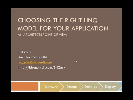 Choosing the Right LINQ Model for Your Application