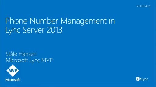 Phone Number Management in Lync Server 2013