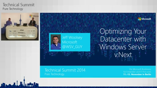 Optimizing Your Datacenter with Windows Server vNext