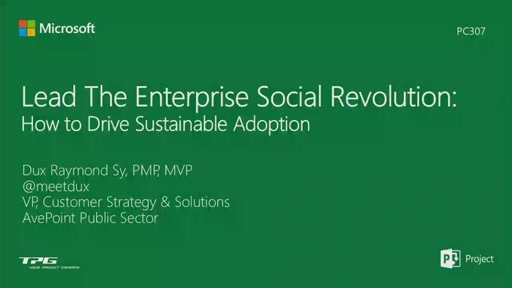 Lead The Enterprise Social Revolution: How to Drive Sustainable Adoption