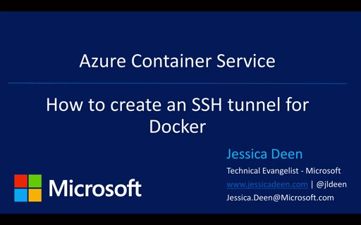 Azure Container Service: How to create an SSH Tunnel