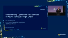 Understanding Operational Data Services on Azure: Making the Right Choice