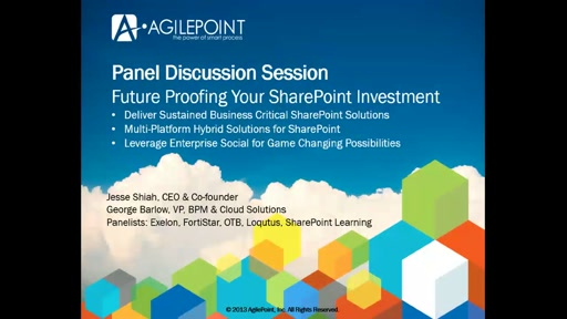 AgilePoint: Beyond Business Critical SharePoint for Hybrid Deployments