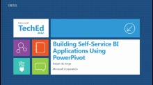 Building Self-Service BI Applications Using PowerPivot