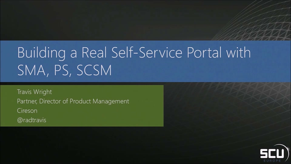 Building A Real Self Service Platform With Scsm Sma
