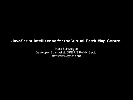 JavaScript Intellisense for the Virtual Earth Map Control