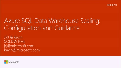 Examine Azure SQL Data Warehouse: scaling configuration and guidance