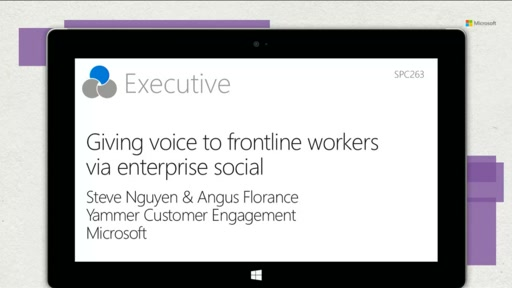 Giving voice to frontline workers via enterprise social