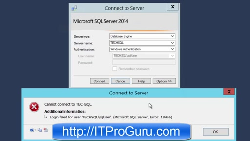 How To Fix Login Failed for User Microsoft SQL Server Error 18456 Step-By-Step
