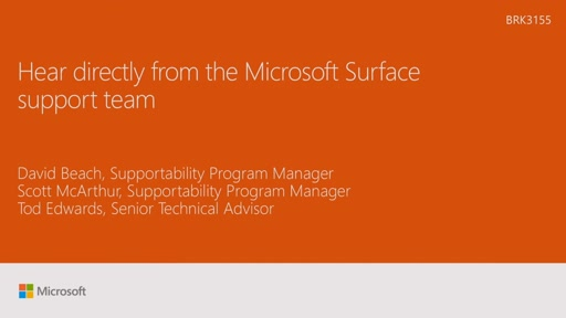 Hear directly from the Microsoft Surface support team