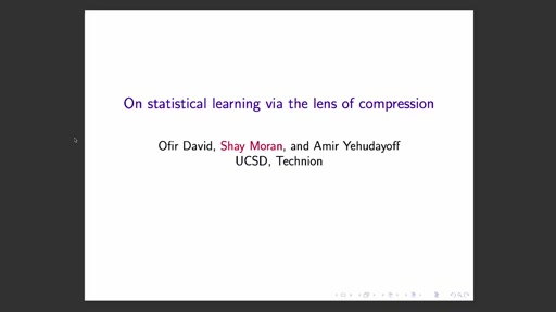 Supervised learning through the lens of compression