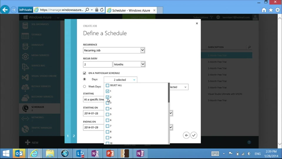 Azure Scheduler 102 - Kevin Lam on strange or unusual schedules