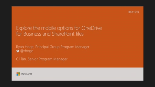 Explore the mobile options for OneDrive for Business and SharePoint files
