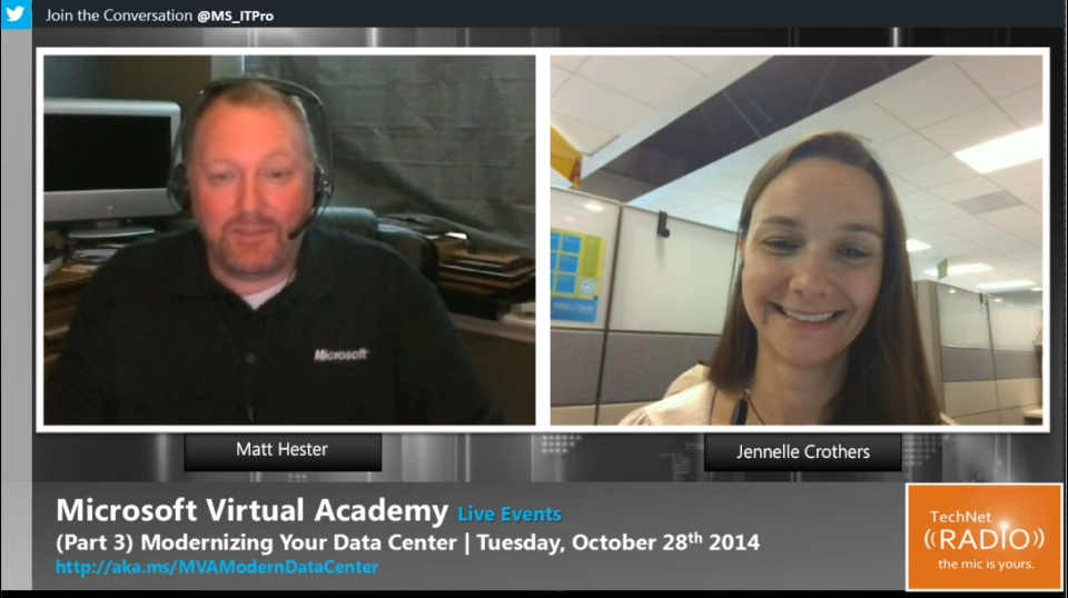TechNet Radio: MVA Live Event - (Part 3) Modernizing Your Data Center