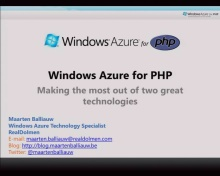 ISV Discovery Day Windows Azure for PHP