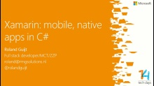 Xamarin: Mobiele, store-ready en native apps voor iOS/Android in C#