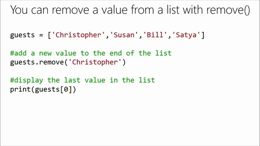 Introduction to Programming with Python: (10) Remembering Lists