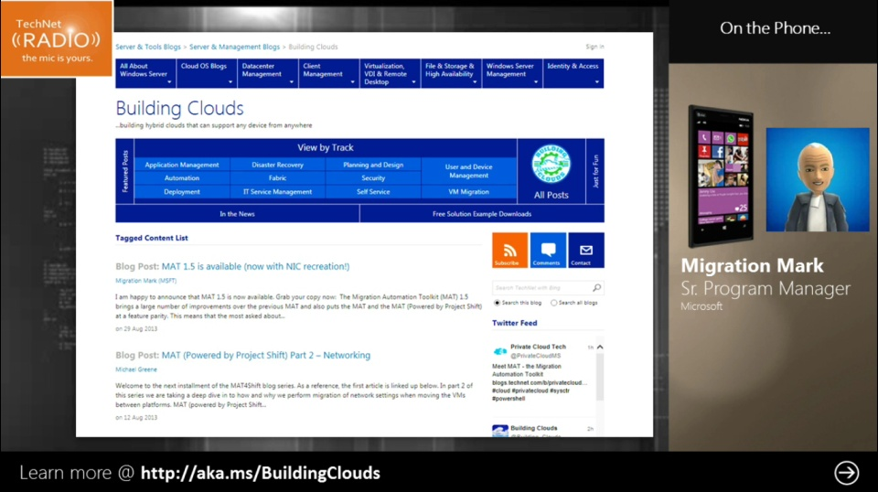 TechNet Radio: Building Clouds - An Inside Look at Virtual Machine Migration Tools