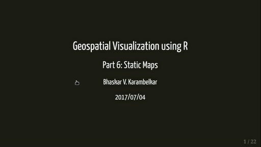 Geospatial visualization using R II
