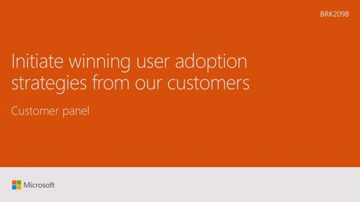 Initiate winning user adoption strategies from our customers