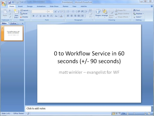 Creating a Workflow Service in Approximately 60 Seconds