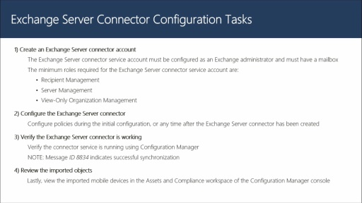 Configuring the Exchange Server Connector