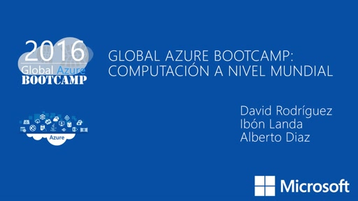 Global Azure Bootcamp: computación a nivel mundial
