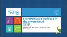 Deploying SharePoint, a Stateless Workload, into a Private Cloud