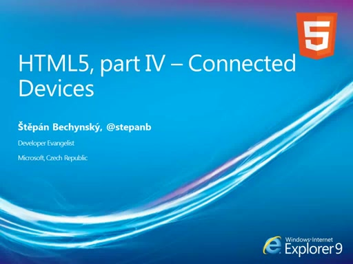 HTML5 Roadshow - Connected Devices