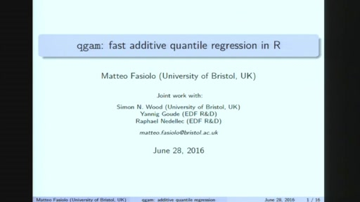 Fast additive quantile regression in R