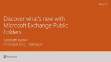 Discover what's new with Microsoft Exchange Public Folders