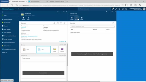 How to create an  SMB3 File Share in Azure Storage