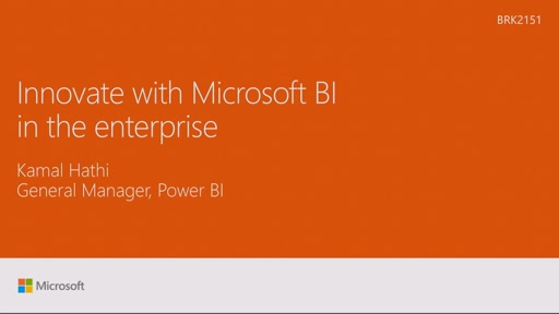 Innovate with Microsoft BI in the enterprise