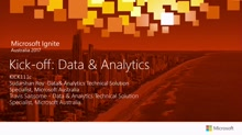 Kick-off: Data & Analytics